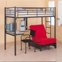 Black Metal Teen Loft Bed Set with Desk , 15 Teen Loft Beds Ideas In Bedroom Category