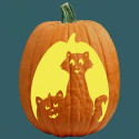 Cat O Lantern Patterns and Stencils , Jack O Lantern Patterns Ideas In Lightning Category