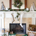 Christmas Mantel Decorating Ides Lettered Cottage , 12 Christmas Mantel Decorating Ideas Pictures In Furniture Category