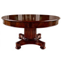 Federal Mahogany Expandable Round Dining , 13 Expandable Round Dining Table Idea In Furniture Category
