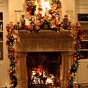 Furniture , 12 Christmas Mantel Decorating Ideas Pictures : Fireplace Mantel Christmas Decorating