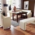 Modern Leather Dining Corner Breakfast Kitchen Nook Set , 11 Inspiring Kitchen Nook Sets Idea In Kitchen Category