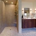 Modern-bathroom-with-doorless-shower , Doorless Showers Idea For Your Small Bathroom In Bathroom Category