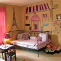 Bedroom , Paris Themed Bedrooms Picture : Paris-themed-bedroom-for-girls