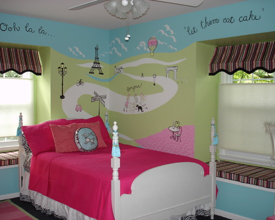 Bedroom , Paris Themed Bedrooms Picture : Paris Themed Bedroom For Little Girls
