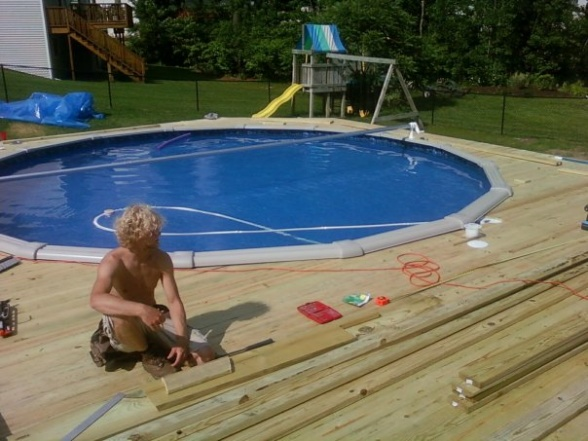 Patio Above Ground Pool Deck : Above Ground Pool Deck Ideas ...