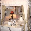 am dying to paint those lamps white and change the shades... , 6 Shabby Chic Bedrooms Idea In Bedroom Category