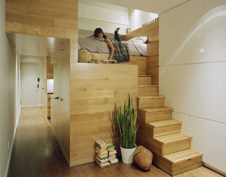 Living Room , Small Apartment Interior Design Idea : Small Studio Apartment Design In New York