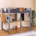 Teen Trends Full Loft Study Bunk Bed , 15 Teen Loft Beds Ideas In Bedroom Category