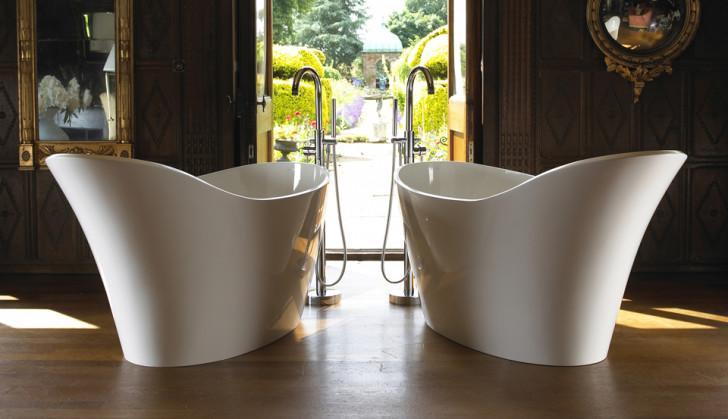 Bathroom , 17 Awesome Victoria And Albert Tubs Idea : Victoria And Albert Twin Bathtub