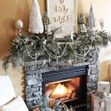 Furniture , 12 Christmas Mantel Decorating Ideas Pictures : Winter-Mantle-Christmas-Decoration-Ideas