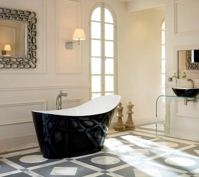 Bathroom , 17 Awesome Victoria And Albert Tubs Idea : black and gorgeous from Victoria and Albert Baths