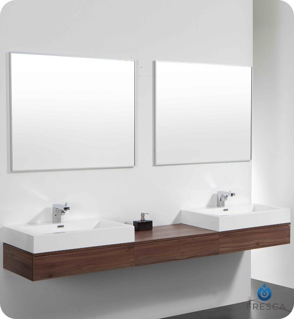 Bathroom , Floating Bathroom Vanities Ideas : Contemporary Floating Bathroom Vanities