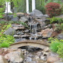 cool-backyard-waterfall , 11 Awesome Backyard Waterfalls Ideas In Apartment Category