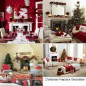 cool-fireplace-christmas-mantel-decoration , 8 Inspiring Christmas Mantel Decoration Ideas In Furniture Category