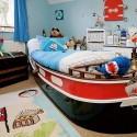 cool pirate ship as a kids bed , 8 Cool Pirate Kids Bedroom Theme Idea In Bedroom Category