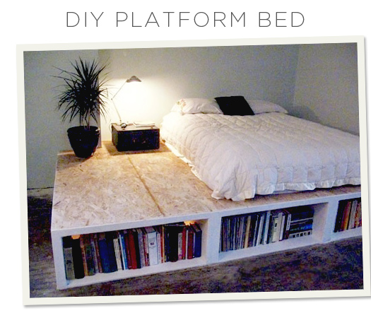 525x443px DIY Platform Bed Picture Picture in Bedroom