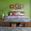 diy platform bed with headboard , DIY Platform Bed Picture In Bedroom Category
