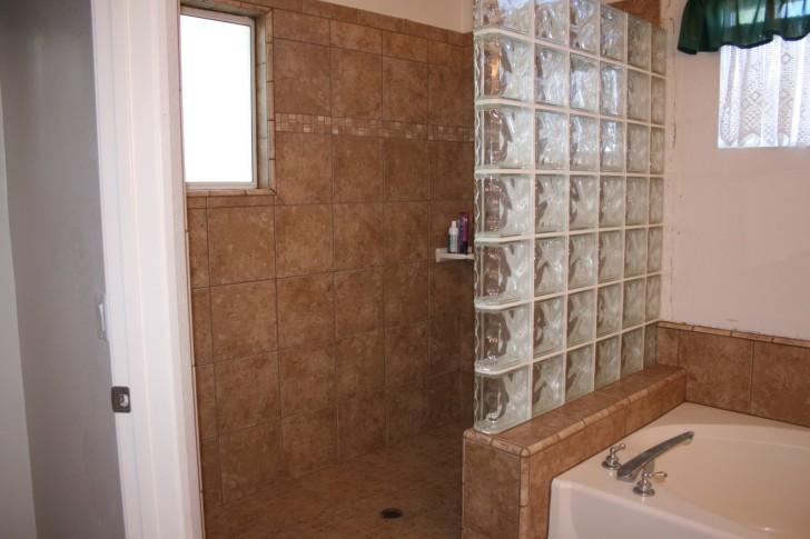 Bathroom , Doorless Showers Idea For Your Small Bathroom : doorless showers design
