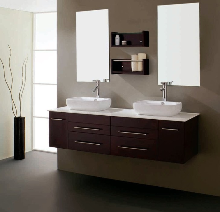 Bathroom , Floating Bathroom Vanities Ideas : double floating bathroom vanity