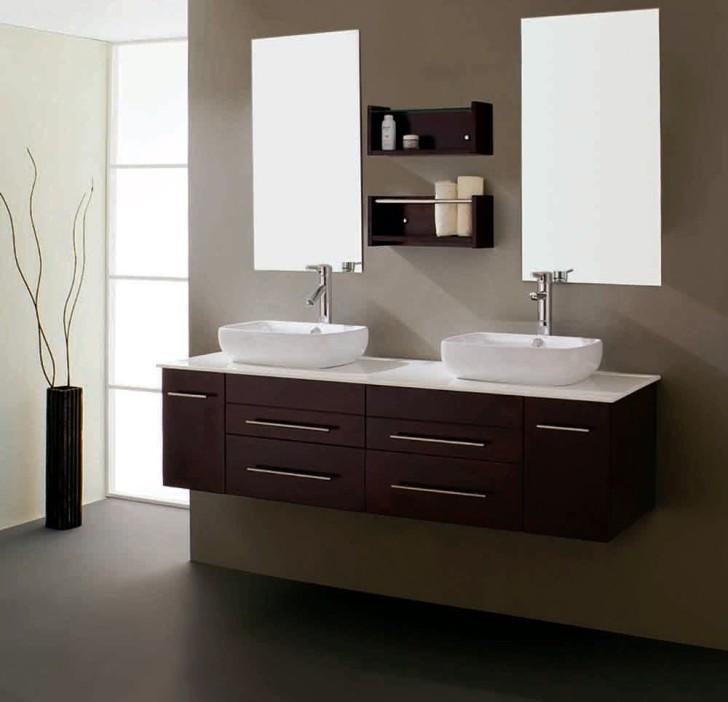Bathroom , Floating Bathroom Vanities Ideas : double floating bathroom vanity