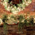Furniture , 12 Christmas Mantel Decorating Ideas Pictures : green-mantel-decor