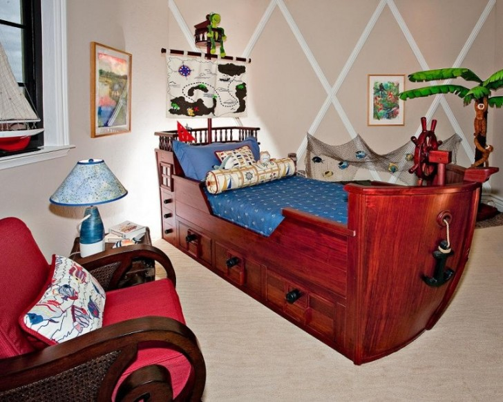 Bedroom , 8 Cool Pirate Kids Bedroom Theme Idea : kids pirate bedding theme