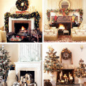 Furniture , 12 Christmas Mantel Decorating Ideas Pictures : mantel-christmas-decorating-ideas