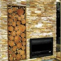 modern stacked stone firepace , 8 Stacked Stone Fireplace Ideas In Living Room Category