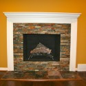 orang wall stacked stone firepace , 8 Stacked Stone Fireplace Ideas In Living Room Category