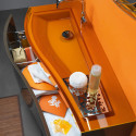 Orange Bathroom Furniture , Orange Small Bathroom Design In Bathroom Category