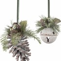 pine-cone-bell-frosted-christmas-ornament , 10 Pinecone Ornaments Ideas In Lightning Category