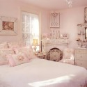 pink-shabby-chic-bedroom-with-feminine-floral , 6 Shabby Chic Bedrooms Idea In Bedroom Category