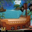 pirate-ship-kids-bedroom-with water wall design-idea , 8 Cool Pirate Kids Bedroom Theme Idea In Bedroom Category