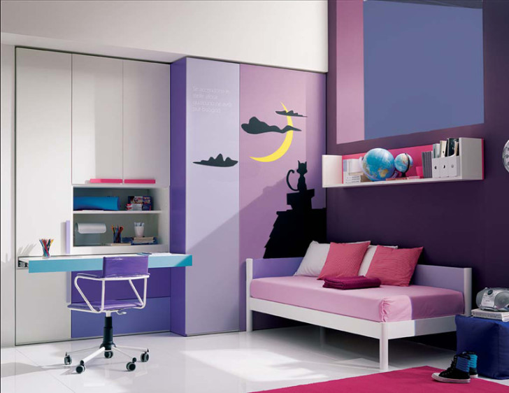 Bedroom , 14 Cool Teenage Girl Bedroom Ideas : purple teenage girl room ideas