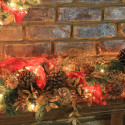 red-gold-mantel-decor , 12 Christmas Mantel Decorating Ideas Pictures In Furniture Category