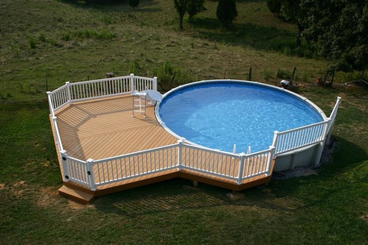 Furniture , Above Ground Pool Deck Ideas :  small-above-ground-pool-deck-ideas