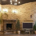 stacked stone firepace ideas , 8 Stacked Stone Fireplace Ideas In Living Room Category
