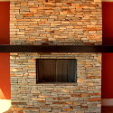 stacked stone firepace surround , 8 Stacked Stone Fireplace Ideas In Living Room Category