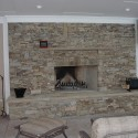 stacked stone firepace tile , 8 Stacked Stone Fireplace Ideas In Living Room Category