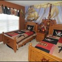 twins pirate-ship-kids-bedroom-design-idea , 8 Cool Pirate Kids Bedroom Theme Idea In Bedroom Category