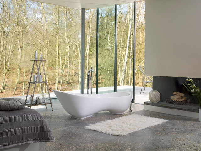 Bathroom , 17 Awesome Victoria And Albert Tubs Idea : White Contemporary Bathtubs