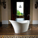 Bathroom , 17 Awesome Victoria And Albert Tubs Idea : white-eclectic-bathtubs