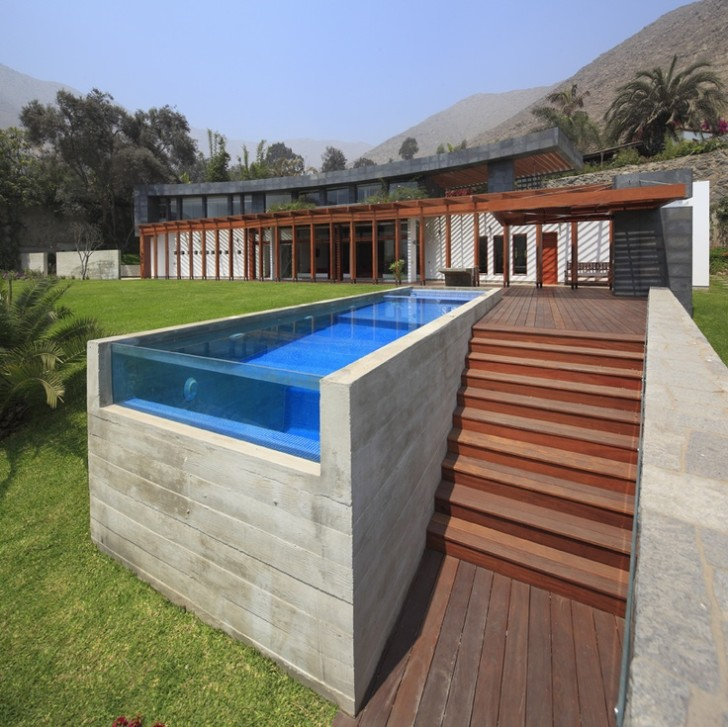 Apartment , 6 Awesome Above Ground Lap Pools Design : Above Ground Lap Pool With Stair