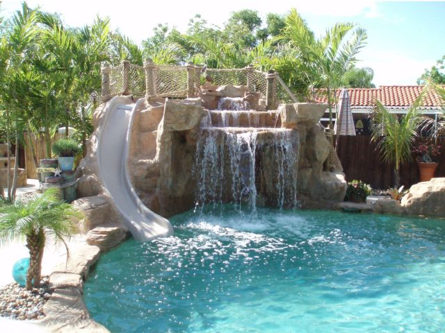 Custom Swimming Pool Waterfalls 5 Inground Pool Waterfalls Idea