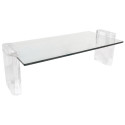 Lucite and Glass Coffee Table  , 8 Lovely Lucite Coffee Table In Furniture Category
