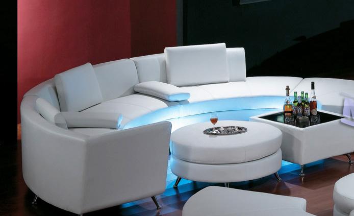 Living Room , 5 Rounded Sectional Sofa For Your Living Room : Luxury-rounded sectional sofa