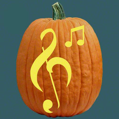 Making music pumpkin carving patterns cool