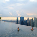 Marina-Bay-Sands-infinity-pool view , Marina Bay Sands Infinity Pool – Awesome! In Apartment Category