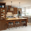 Mission Cherry Chocolate Kitchen by Shenandoah Cabinetry , 8 Shenandoah Kitchen Cabinets Inspiration In Kitchen Category